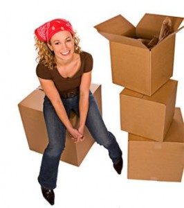 Girl on Moving boxes